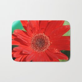 Red Daisy Bath Mat
