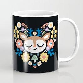 Floal Heart Deer / Cute Animal Coffee Mug