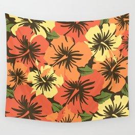 Epic Hibiscus Hawaiian Floral Aloha Shirt Print Wall Tapestry