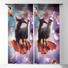 Space Sloth Riding Llama Unicorn - Bacon & Taco Blackout Curtain