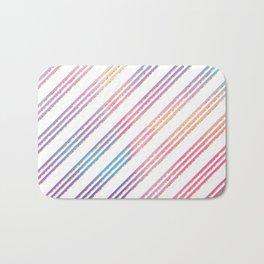 Abstract pink teal purple gradient stripes pattern Bath Mat