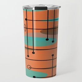 Atomic Era Inspired Dark Orange Travel Mug