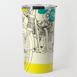 Vintage BSA Super Rocket Motorcycle Art Print Travel Mug