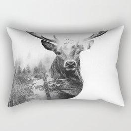 Deer in the woods Rectangular Pillow