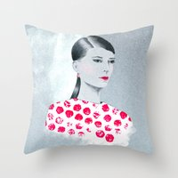 sandra dieckmann Throw Pillows featuring Sandra by youdesignme