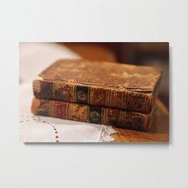 Antique Books Metal Print