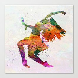 dancing to the night Canvas Print