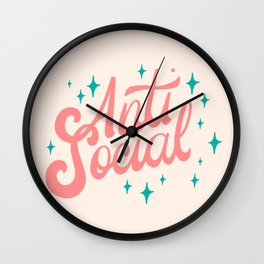 Anti-Social Wall Clock