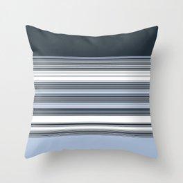 Navy Blue Stripes Throw Pillow