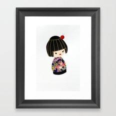 Japanese Geisha Doll Framed Art Print