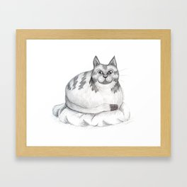 Cosy Cat by Emily Hunter-Higgins Framed Art Print