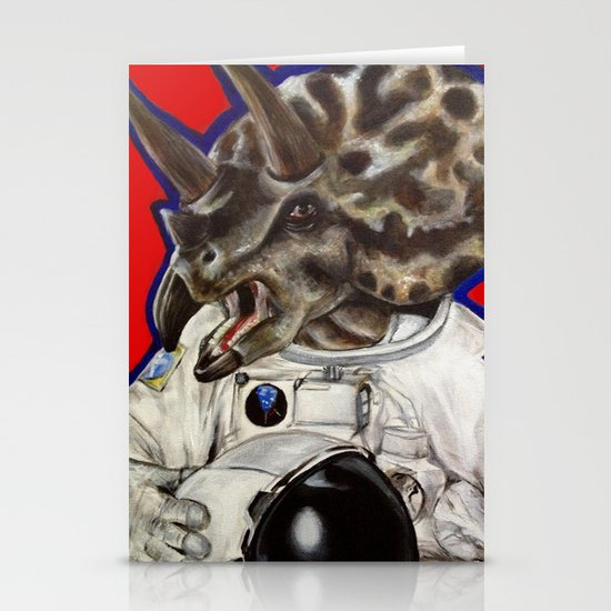 Prehistoric Astronaut Stationery Cards