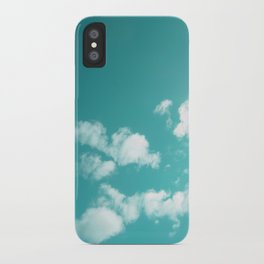 Teal kissed sky. iPhone Case