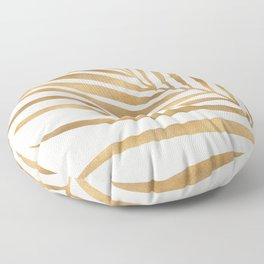 Metallic Gold Palm Leaf Floor Pillow