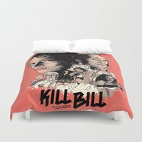 kill bill Duvet Covers featuring Kill Bill by RJ Artworks