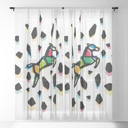 Rainbow Anigami Horse Sheer Curtain