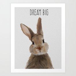 Rabbit painting art Art Print
