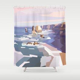 Geometric Great Ocean Road Shower Curtain