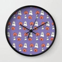 Happy Halloween Pattern #1 #decor #art #society6 Wall Clock