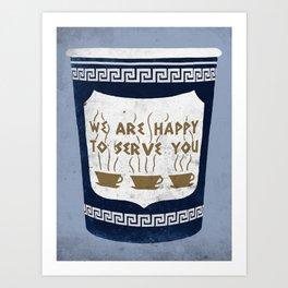 Greek Coffee NYC Art Print