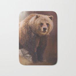 Great Strength - Grizzly Bear Art by Jordan Blackstone Bath Mat