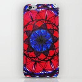 Ruby Sapphire Mandala iPhone Skin