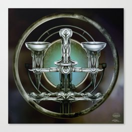 """Astrological Mechanism - Libra"" Canvas Print"