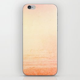 Modern abstract orange summer ombre pattern iPhone Skin