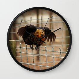Hen Says Hello Wall Clock