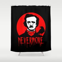 poe Shower Curtains featuring Nevermore - Poe by Buby87