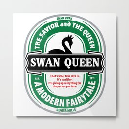 SWAN QUEEN. SOUNDS GOOD. Metal Print