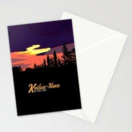 Kailua Kona Hawaii Sunset  Stationery Cards