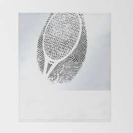 Fingerprint of a player Throw Blanket