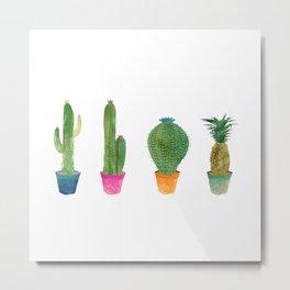 Cactus to Pineapple Metal Print