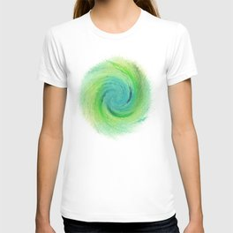 Wind_Ripple_Watercolour_Spin_Positive_Energy T-shirt