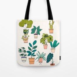 House Plants illustration Tote Bag