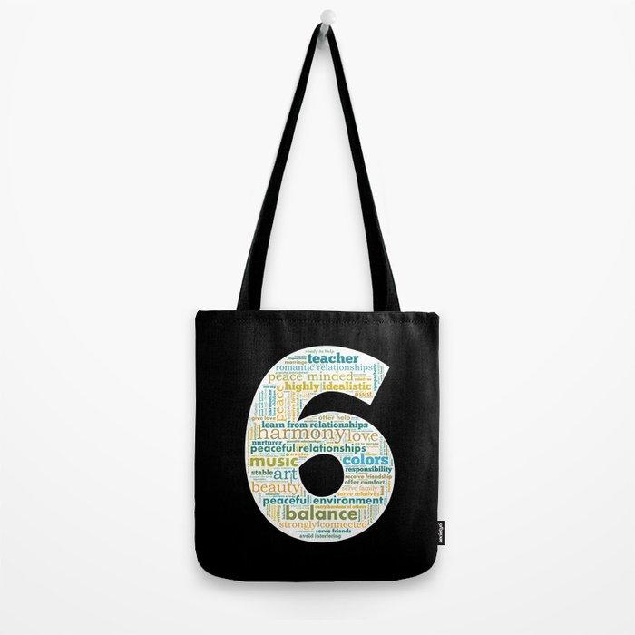 Life Path 6 (black background) Tote Bag