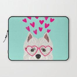 Westie west highland terrier white valentines day dog lover pet valentine Laptop Sleeve
