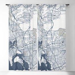 San Diego City Map of California, USA - Coastal Blackout Curtain