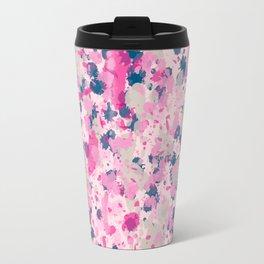 Pink Ink Splatter Travel Mug