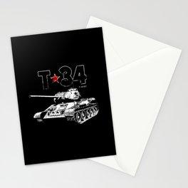 T-34-Tank-Soviet Union-War-WW II Stationery Cards