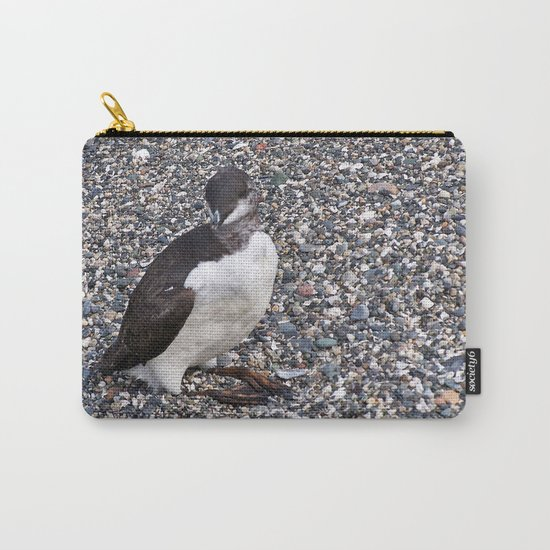 Razorbill Walking on the Beach Carry-All Pouch