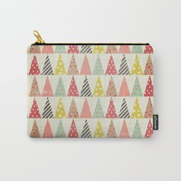 Whimsical Christmas Trees Carry-All Pouch