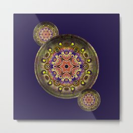 K107 Abstract Medallion Metal Print