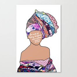 Woman in Colors - 5 - For Most of History, Anonymous was a Woman Canvas Print