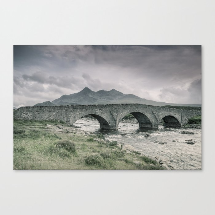 The Bridge and the Cuillin Canvas Print