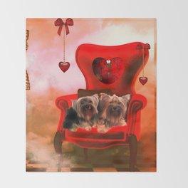 Cute little Yorkshire Terrier Throw Blanket