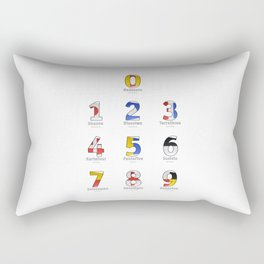 Navy Alphabet Numbers - Leather Rectangular Pillow