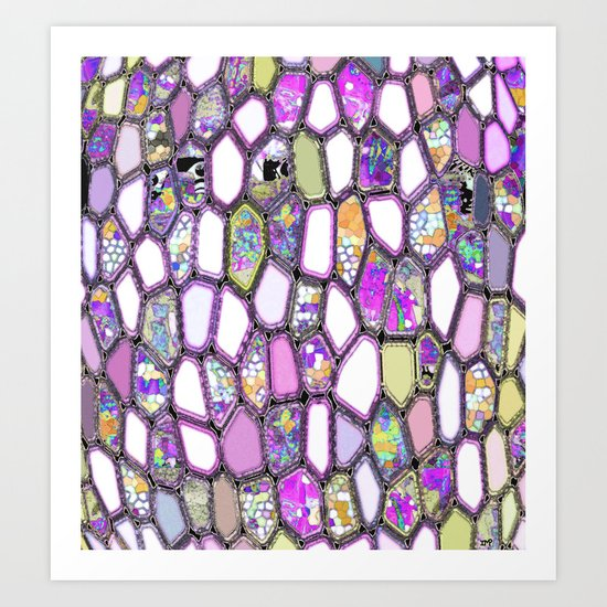 Purple-ish Cells Art Print