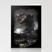 kaiju Stationery Cards featuring El Kaiju by SkullsNThings